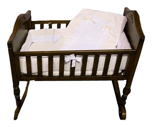 White Pique Crib Bedding