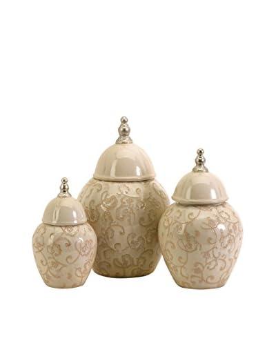Set of 3 Nasturtium Jars