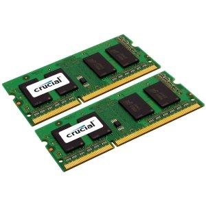 Crucial 8GB DDR3 SDRAM Memory Module. 8GB KIT 2X4GB DDR3 PC3-12800 204PIN SODIMM UNBUFF DR CL11 1.35V. 8 GB (2 x 4 GB) - DDR3 SDRAM - 1600 MHz DDR3-1600/PC3-12800 - Non-ECC - Unbuffered - 204-pin SoDIMM