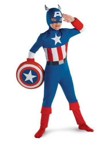 Kids-Costume Captain America Classic Sm 4-6 Halloween Costume - Child 4-6
