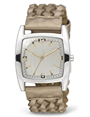 M&S Collection Rectangular Face Analogue Strap Watch