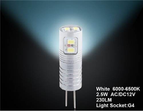 Wruihuimin D25 2.5W G4 White Led Crystal Light