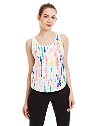 adidas Women's Tunic Top (AH8900_White and Bright Yellow_XL)