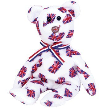 TY Beanie Baby - JACK the Bear (UK Exclusive Version - Flag Nose) - 1