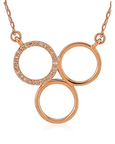 Divas Diamond Set catenina e pendente Diamond Gold Trio Circle