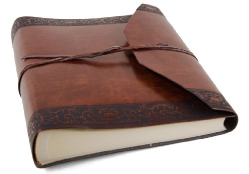 Romano Italian Recycled Leather Photo Album, Classic Style pages (23cm x 30cm)