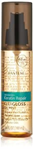 Pantene Pro-V Expert Collection Advanced+ Keratin Repair Keragloss Oil Mist, 3.4 Fluid Ounce