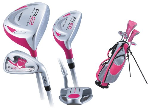 Precise Junior R2 Girls Golf Set, Ages 9-12 (Left Hand , Cherry)