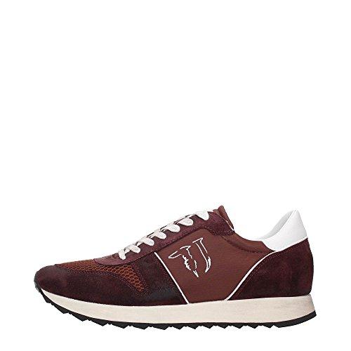 Trussardi Jeans 77S064XX Sneakers Uomo Tessuto Bordeaux Bordeaux 41