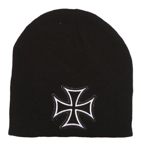 Iron Cross Chopper Short Beanie - Black (Cross Chopper compare prices)