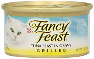 Fancy Feast Gourmet Cat Food, Grilled Tuna Feast in Gravy, 3-Ounce Cans (Pack of 24)