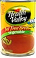 Health Valley Fat Free Vegetable Broth, 14.5 Ounce Cans (Pack of 12)
