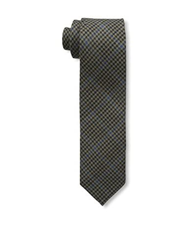 Bruno Piattelli Men's Slim Wool Plaid Tie, Brown