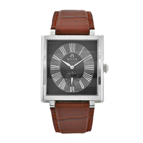 Milus Women's HER001 Herios Brown Leather Strap Roman Numerals Dial Watch