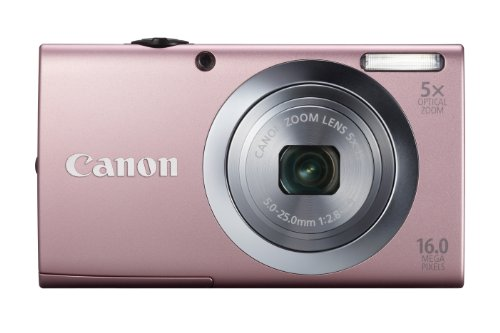 Canon PowerShot A2400 IS Digital Camera - Pink