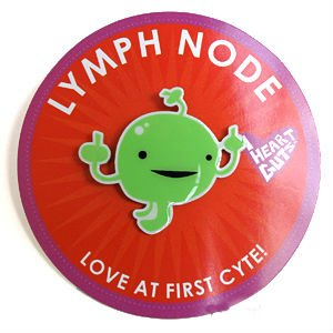 Lymph Node Lapel Pin Love At First Cyte I Heart Guts