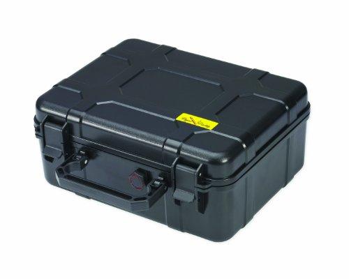 Cigar Caddy 40 40-Cigar Waterproof Travel Humidor, Black Matte