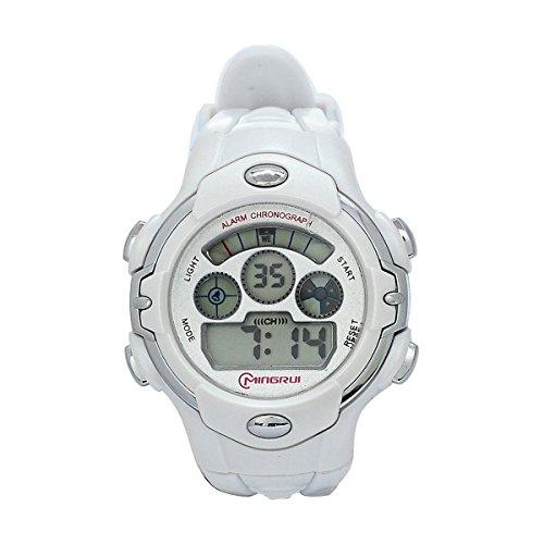 8Years- 1 Stueck Outdoor Digitaluhr Armbanduhr Stoppuhr Watch Wasserdicht Weiss