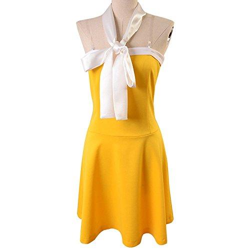 [Maconaz?Fairy Tail Levy McGarden Dress Cosplay Costume-Female-X-Small] (Levy Fairy Tail Costume)
