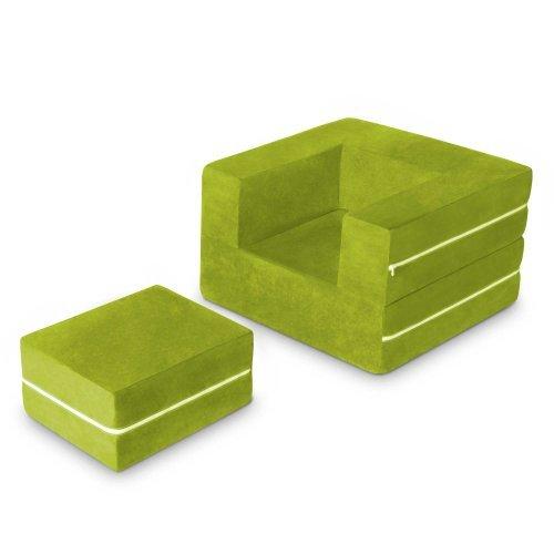 Jaxx Zipline Modular Kids Chair & Ottoman / Fold-Out Lounger, Lime by Jaxx Bean Bags (Jaxx Modular compare prices)