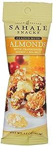 Sahale Snacks Almonds with Cranberries, Honey Plus Sea Salt, 1.5 Ounce, 18 Count