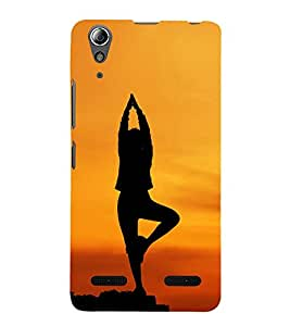 99Sublimation Girl with Morning Yoga 3D Hard Polycarbonate Back Case Cover for Lenovo A6000 +