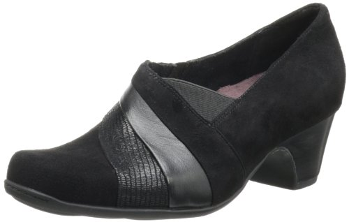 Clarks Women's Sugar Spice Loafer,Black Suede,5 M US