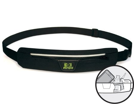 Amphipod Amphipod AirFlow Microstretch Belt, Black/Silver, OS