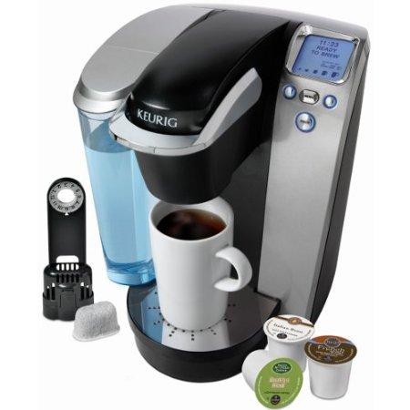 Keurig K75 Single-Cup Home-Brewing System With Water Filter Kit, Platinum/Black