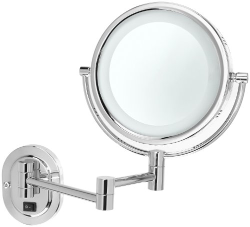 Best cheap Jerdon HL65CD 8-Inch Lighted Wall Mirror, 5X Magnification ...