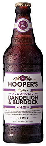 Hoopers discount duty free Hooper's Dandelion and Burdock Pre-mixed and Ready to Drink Flavoured Alcohol 50cl (Case of 8)