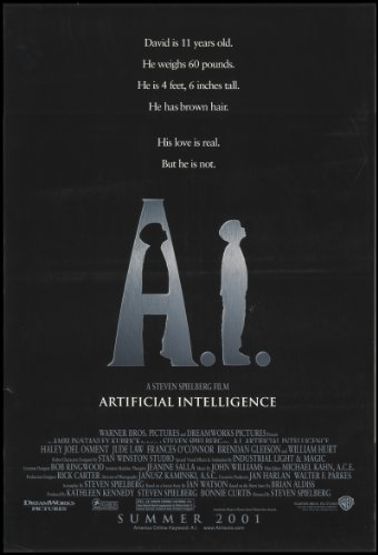 "A.I. Artificial Intelligence 2001 Original Movie Poster Adventure Drama Sci-Fi - Dimensions: 27"" X 41"""
