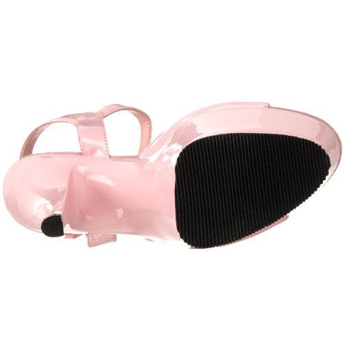 Pleaser Women's KISS-209/BP/M Platform Sandal,Baby Pink Patent,10 M US