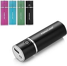 Poweradd Slim2 5000mAh Chargeur Portable Batterie de Secours Externe pour iPhone 6 5S 5C 5 4S 4, iPod (Apple Adapteurs Non Inclus), Samsung Galaxy S5 S4 S3 S2, Note 2, Note 3, HTC One(M8), Android Smart Phones and D'autres Appareils Chargés Via USB 5V-Noir
