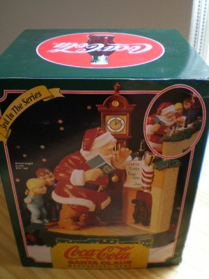 Coca-Cola Santa Claus Mechanical Bank - Santa with Children at the Fireplace - 3rd In The Series - 1