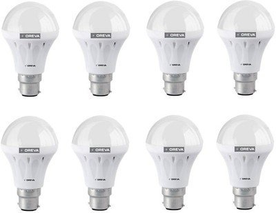 10W ECO LED Bulb (Cool Day Light , pack of 8)