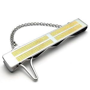KONOV Pince À Cravate Homme - Croix - Haute Qualité - Acier Inoxydable - Cadeau pour Homme - Couleur Or Argent - F22019