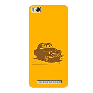 Vibhar printed case back cover for Xiaomi Mi 4i MusCar
