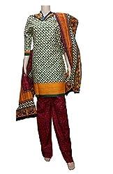 Komal art Ethnicwear Women's Dress Material(Komal art_Preyanshi5103_Green_Free Size)