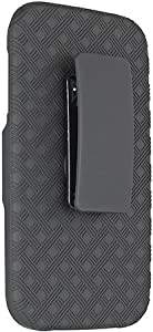 Verizon Oem Shell Holster Combo Case for Samsung Galaxy S4 SIV And Kick-Stand Belt Clip Holster - Fits Any Version for Galaxy S4 S 4 SIV S IV includes Models for AT&T, Verizon, Sprint, T-Mobile I545 (BLACK)