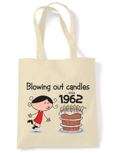Blowing Out Candles Since 1962 50th Birthday Tote / Shoulder Bag