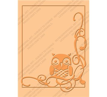 Cuttlebug A2 Embossing Folder, Owl Flourish
