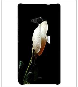 PrintDhaba White Rose D-2002 Back Case Cover for MICROSOFT LUMIA 535 (Multi-Coloured)