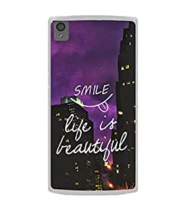 Life Quote 2D Hard Polycarbonate Designer Back Case Cover for OnePlus X :: One Plus X :: One+X