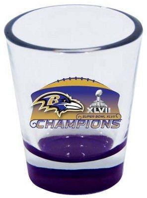 Hunter Baltimore Ravens Superbowl Super Bowl XLVII 47 Champions Champs Highlight Shot Glass