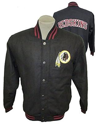Washington Redskins NFL Mens Embroidered Snap Front Wool Blend Jacket ARAD 69 M L XL XXL (X-Large)