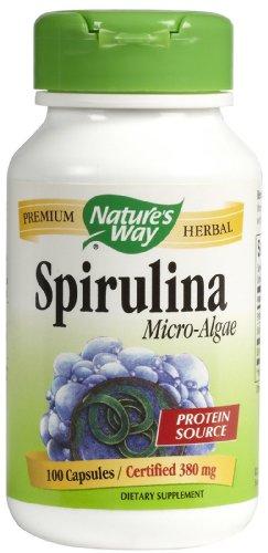 Natures Way Spirulina Micro Algae Capsule, 380 Mg, 100 Per Pack -- 3 Packs Per Case.