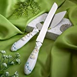 Fashioncraft Finishing Touches Collection Beach Themed Wedding Cake Knife And Server Set, 1 Piece