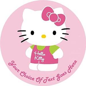 """Hello Kitty P1679 7.5"""" Circular Edible Cake Topper made ..."""