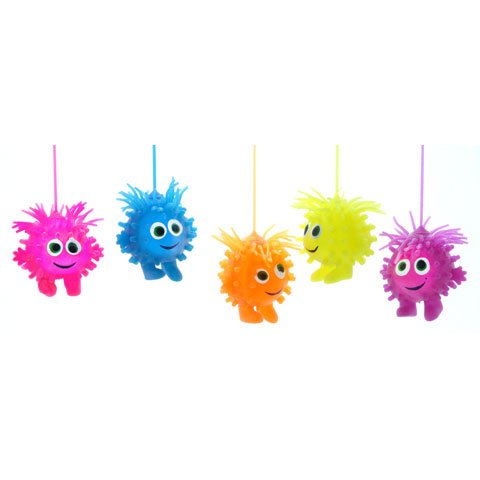 Bulk Buy: Darice Crafts For Kids Puffy Monster With Led Light Assorted Colors 5 Inches (24-Pack) 8604-05